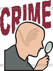 Kriminalität - Vektor-Bild