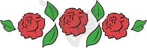 Rote Rosen - Vektorgrafik