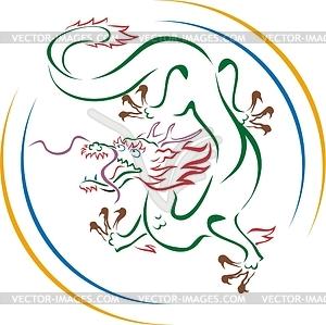 Chinesischer Drache - Vector-Design