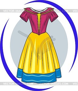 Kleid für Prinzessin - Vektorgrafik