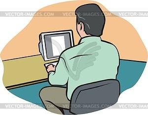 Mitarbeiter - Vektor-Clipart / Vektorgrafik