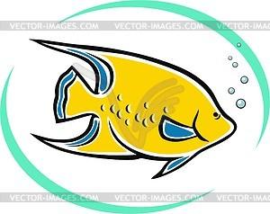 Aquarienfische - Vektor-Skizze
