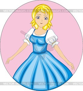 Kleine Prinzessin Mädchen - Vektorgrafik