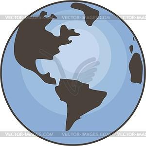 Земной шар - векторный графический клипарт