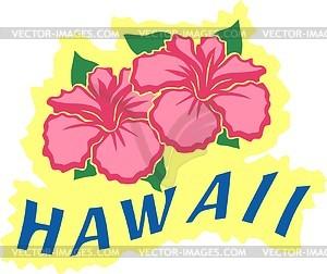 Hawaiische Blumen - Vektorgrafik
