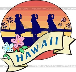 Hawaiisches Clipart - vektorisiertes Clip-Art