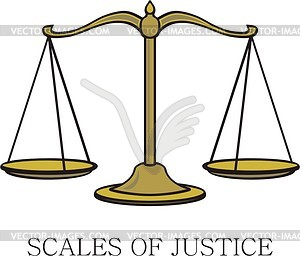 Scales of justice - vector clipart
