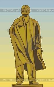 Wladimir Lenin-Denkmal - Vektorgrafik