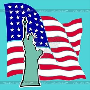 Die Freiheitsstatue in New York - Vektor-Design