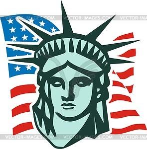 Die Freiheitsstatue in New York - Vector-Clipart