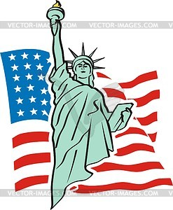 Die Freiheitsstatue in New York - Vector-Design