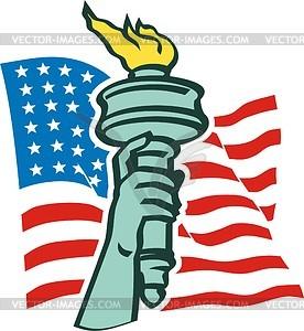 Die Freiheitsstatue in New York - Vektorgrafik