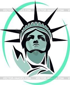 Die Freiheitsstatue in New York - vektorisierte Abbildung