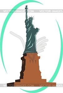 Die Freiheitsstatue in New York - Vinyl-Ready Vektor-Clipart