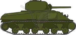 Panzer M4A3 Sherman - Vector-Clipart / Vektorgrafik