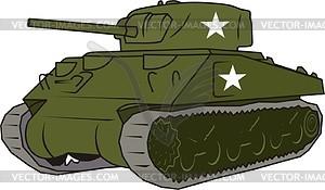 Panzer M4A3 Sherman - Vektor-Klipart