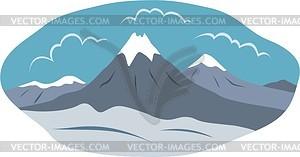 Berge - vektorisiertes Clipart
