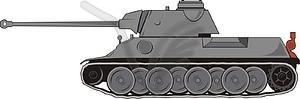 Panzer Panther - farbige Vektorgrafik