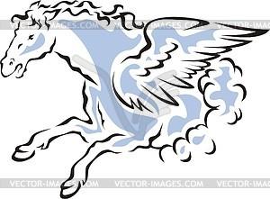 Geflügeltes Pferd - vektorisiertes Design