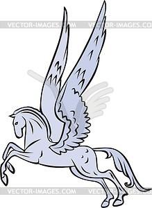 Geflügeltes Pferd - Clipart-Bild