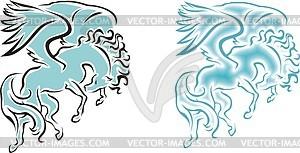 Geflügeltes Pferd - Royalty-Free Vektor-Clipart