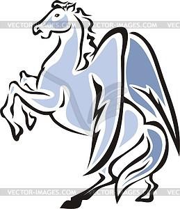 Geflügeltes Pferd - Stock-Clipart