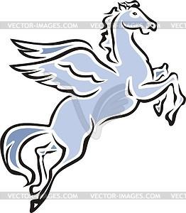 Geflügeltes Pferd - Vektor-Clipart