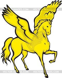 Geflügeltes Pferd - Vektor-Skizze