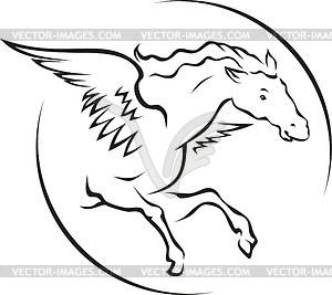 Geflügeltes Pferd - vektorisiertes Clipart
