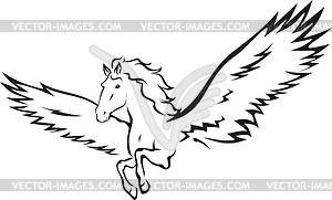Geflügeltes Pferd - vektorisiertes Clip-Art