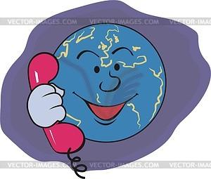 Телефон - изображение в векторном виде