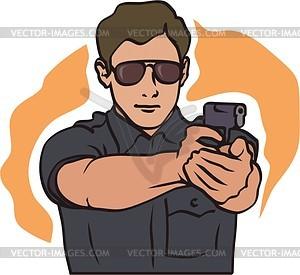 Polizist - Stock Vektor-Bild