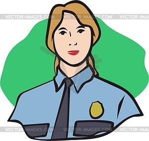 Policewoman - vector clipart