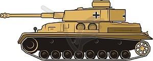 Panzer Pz IV - Vektor-Clipart