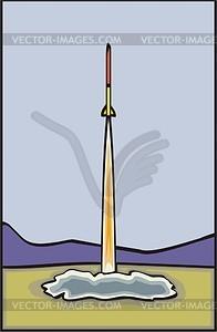 Start von Rakete - vektorisierte Abbildung