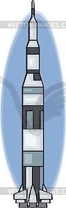 Weltraumrakete Saturn 5 - Vektorgrafik