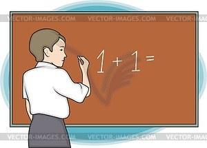 Schüler - vektorisiertes Design