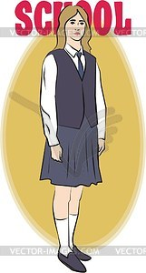 Schulerin - Vektor-Bild
