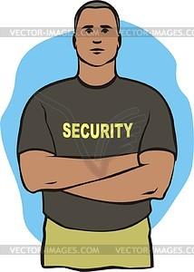 Sicherheitsbeamte - Vektor-Illustration