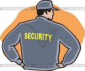 Sicherheitsbeamte - Vector-Illustration: vector-images.de/clipart.php?id=12995