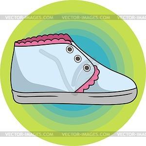 Schuhe für Kinder - vektorisierte Grafik