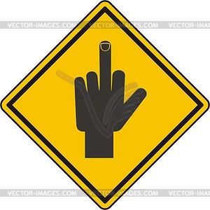Zeichen mit Hand und Finger nach oben - Vektorgrafik