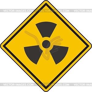 Radiation Zeichen - Vektorgrafik