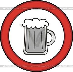 Zeichen Bier nicht erlaubt - Vektorgrafik