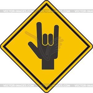 Zeichen Hand mit den Fingern - Vektorgrafik