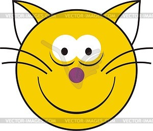 Smilie - Vinyl-Ready Vektor-Clipart