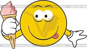 Smiley mit Eis - Vektorgrafik