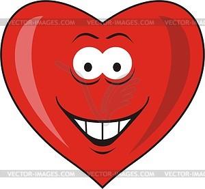 Смайлик-сердечко - векторный клипарт