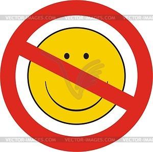 Smilies verbotten - Vektorgrafik