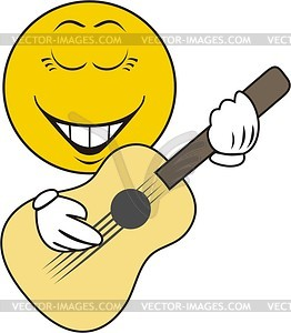 Smilie-Gitarrist - Vektorgrafik